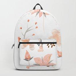 peach grey botanicals Backpack