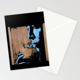 triptych on wood Stationery Cards