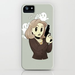 Spooked Scully iPhone Case