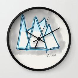 Bluey Peaks Wall Clock