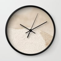 sand Wall Clocks featuring sand by  Agostino Lo Coco