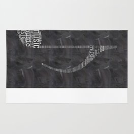 Chalkboard music note Rug