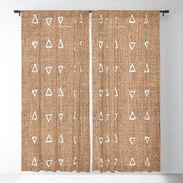 Triangle Mud Cloth Pattern Bastet Weave  Blackout Curtain