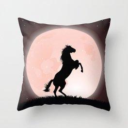 Moon Rider Throw Pillow