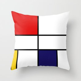 Mondrian De Stijl Modernist Inspired Abstract Art Throw Pillow