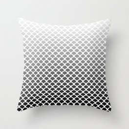 B&W squama Throw Pillow