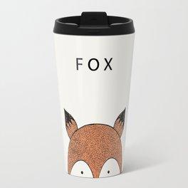 Cute hand drawn fox design Travel Mug