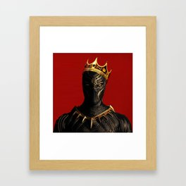 Black Panther King Wakanda Forever T'Challa Shirt Framed Art Print
