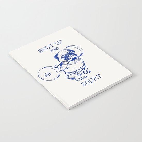 Pug Squat Notebook
