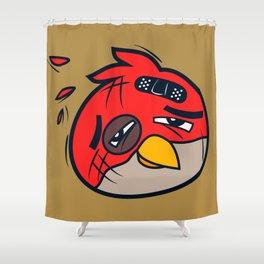 Battered Bird II Shower Curtain