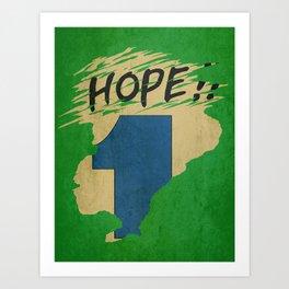 Hope!! (time machine ) Art Print