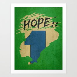 Hope!! (time machine ) Art Print