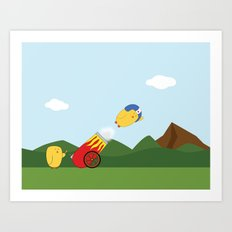 Flying Lessons Art Print