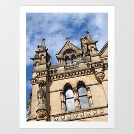pennine gothic - bradford city hall Art Print