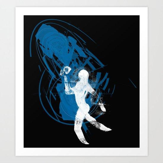paleo runner Art Print