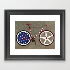 Bike America Framed Art Print