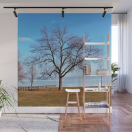 The Tree by the Frozen Lake Wall Mural