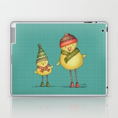 Two Chicks - teal Laptop & iPad Skin