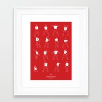 napoleon dynamite Framed Art Prints featuring Napoleon Dynamite by Niege Borges