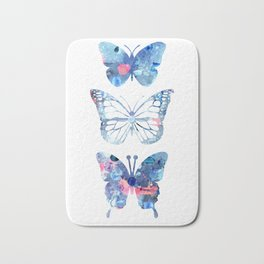Butterflies Three Blue Clothes Women Bath Mat
