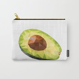 Low Polygon Avocado Carry-All Pouch