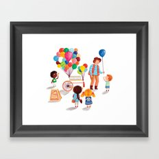 Balloon Stand Framed Art Print