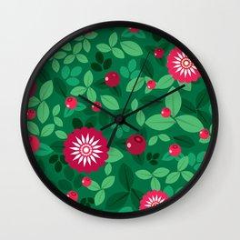 Lingonberries Wall Clock