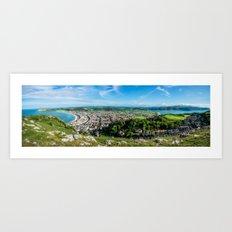 Llandudno Panorama Art Print