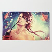 the mortal instruments Area & Throw Rugs featuring All men are mortal - Nuvat by SirWendigo