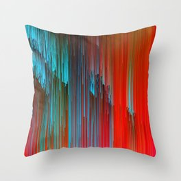 California Dreamin' - Abstract Glitch Pixel Art Throw Pillow