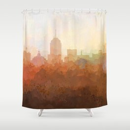 Fresno, California Skyline - In the Clouds Shower Curtain