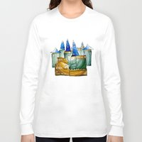 castle Long Sleeve T-shirts featuring Castle by Irina  Mushkar'ova