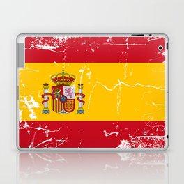 Spain flag with grunge effect Laptop & iPad Skin