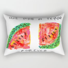 Team Forever Love Quote Couple Watermelon Fruits Rectangular Pillow
