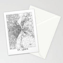 St. Louis White Map Stationery Cards