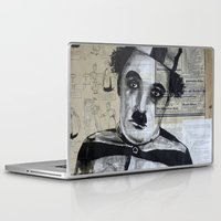 chaplin Laptop & iPad Skins featuring Charles Chaplin  by Krzyzanowski Art