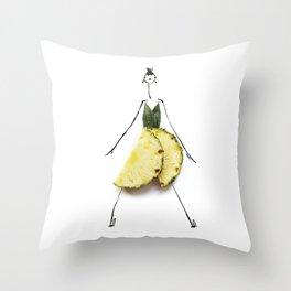 Edible Ensembles: Yellow Pineapple Throw Pillow