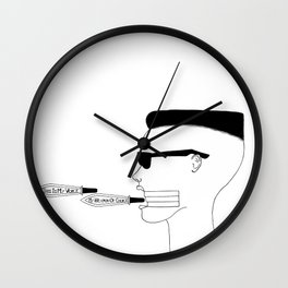 Voici ma voix, Mon arme de choix / This is my voice, my weapon of choice Wall Clock