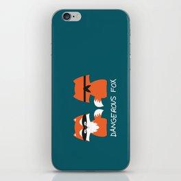 Dangerous Fox iPhone Skin