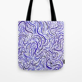 Upstream/Downstream - Blue Tote Bag