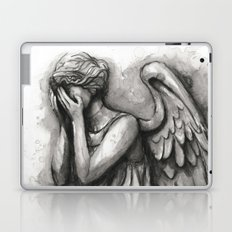 Weeping Angel Watercolor Doctor Who Art Laptop & iPad Skin