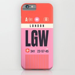 Baggage Tag A - LGW London Gatwick England UK iPhone Case