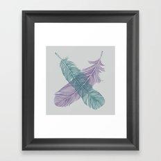 X Feathers Framed Art Print