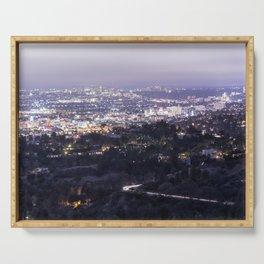 Los Angeles Nightscape No. 2 Serving Tray