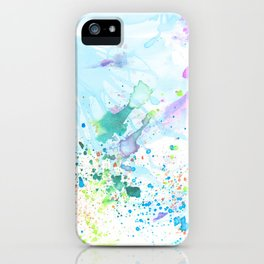 Stream of Consciousness watercolor iPhone Case