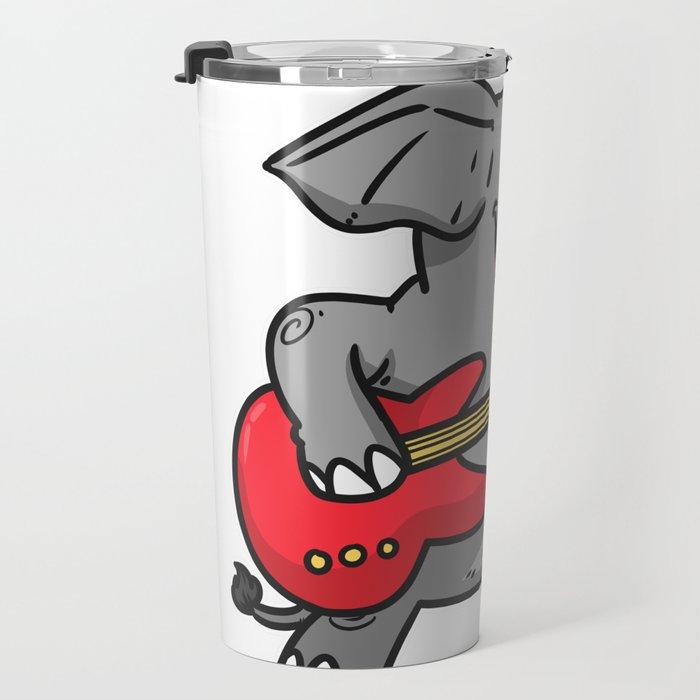Guitar elephant Travel Mug