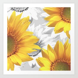 Sunflower Bouquet #decor #society6 #buyart Kunstdrucke