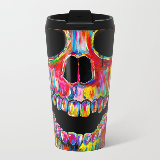 Chromatic Skull Metal Travel Mug