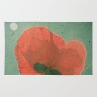 poppy Area & Throw Rugs featuring Poppy by Cassia Beck