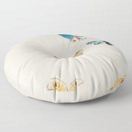 Five Butterflies (1912) by Odilon Redon Floor Pillow
